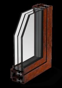 profilo finestra MOGS - Cor-ten