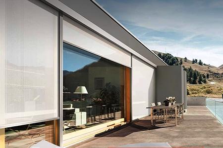 schermatura solare zip per vetrate